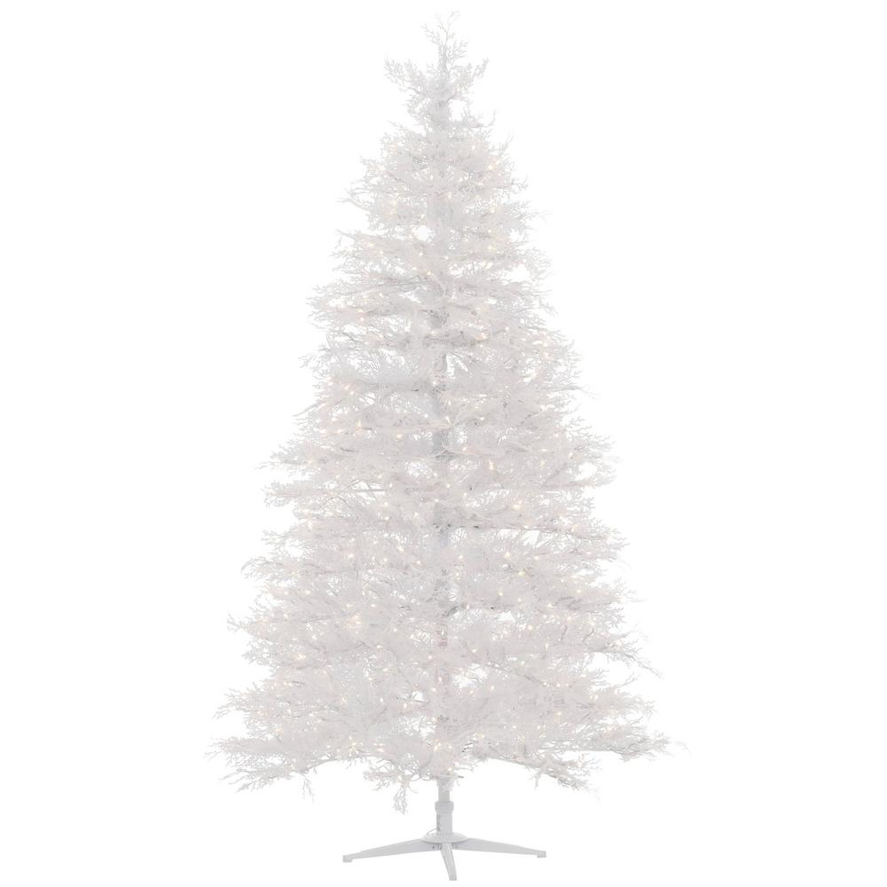 HomeAccentsHoliday Home Accents Holiday 7.5 ft. Pre-Lit LED Winter Crest Artificial Christmas Tree with 600 Warm White Micro-Dot Lights