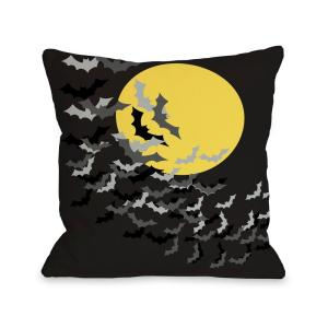 Flock of Bats Moon 16 in. x 16 in. Decorative Pillow