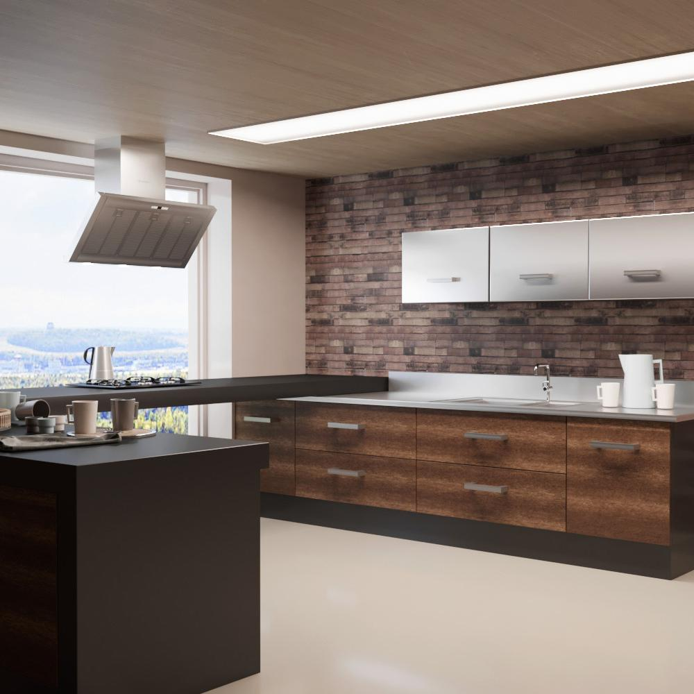Decowall zurich chocolate wood peel and stick 3d effect for 3d peel and stick wallpaper
