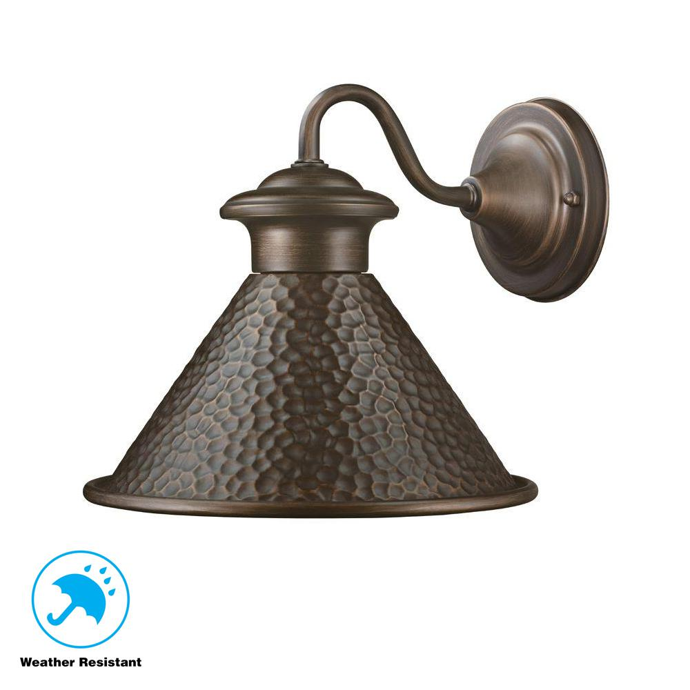 Home Decorators Collection Essen 1 Light Antique Copper Outdoor Wall Lantern Sconce