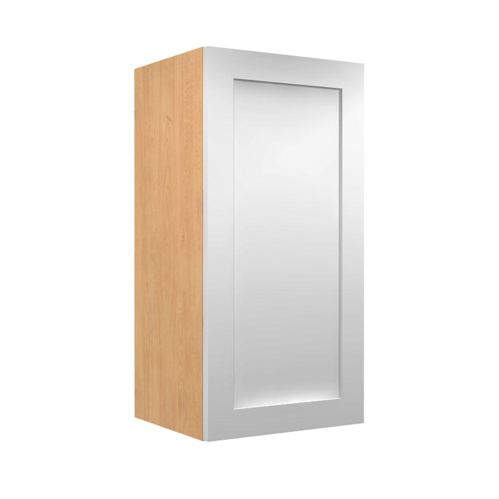 Home decorators collection ready to assemble 15x38x12 in elice wall cabinet with 1 soft close Home decorators armoire