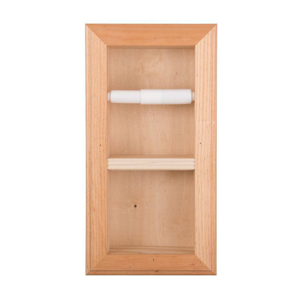 Newton Recessed Toilet Paper Holder 22 Holder in Unfinished Vertical Wall Hugger Frame
