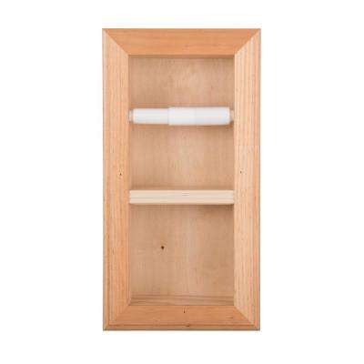 Newton Recessed Toilet Paper Holder 22 Holder in Unfinished Vertical Wall Hugger Frame