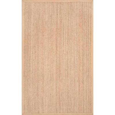 Elijah Seagrass With Border Beige 10 ft. x 14 ft. Area Rug