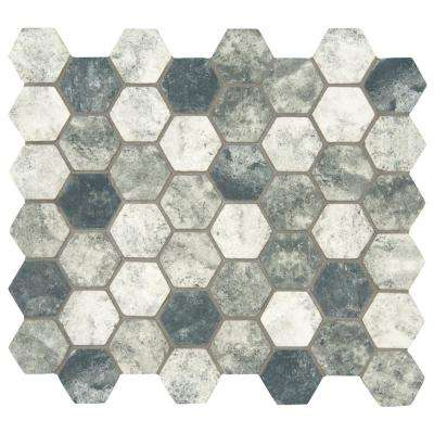 Urban Tapestry Hexagon 12 in. x 12 in. x 6mm Glass Mesh-Mounted Mosaic Tile (15 sq. ft. / case)