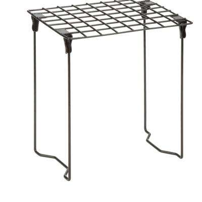 9.25 in. W x 11 in. D Stackable, Folding Black Steel Locker Shelf