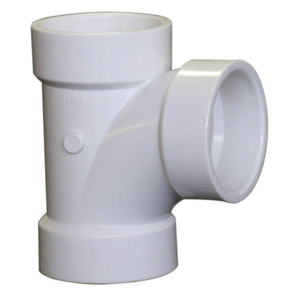 1-1/2 in. x 1-1/2 in. x 1-1/2 in. PVC DWV All Hub Sanitary Tee (10-Pack)
