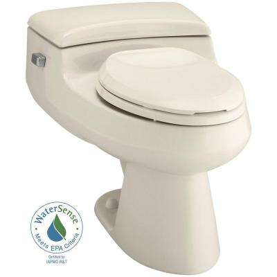 San Raphael Comfort Height 1-piece 1 GPF Single Flush Elongated Toilet in Almond