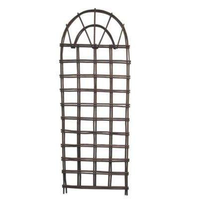 48 in. H x 18 in. W Willow Round Top Planter Trellis