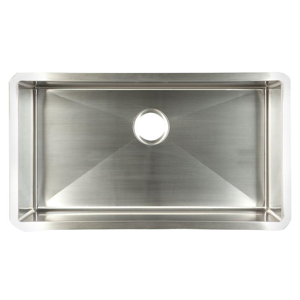 FrankeUSA Undermount Stainless Steel 29x18x10 Single Basin Kitchen Sink
