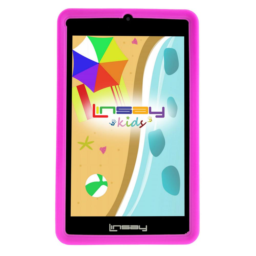 LINSAY 7 in. 2GB RAM 16GB Android 9.0 Pie Quad Core Tablet with Pink Kids Defender Case was $119.99 now $59.99 (50.0% off)