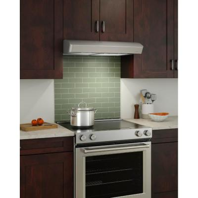 Mantra 30 in. Convertible Under Cabinet Range Hood with Light in Stainless Steel