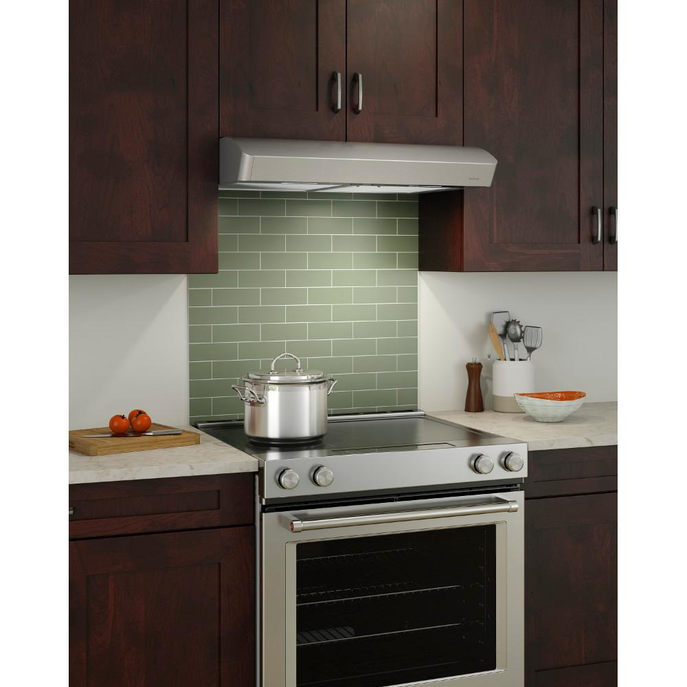 NuTone Mantra 30 in. Convertible Under Cabinet Range Hood with Light in  Stainless Steel
