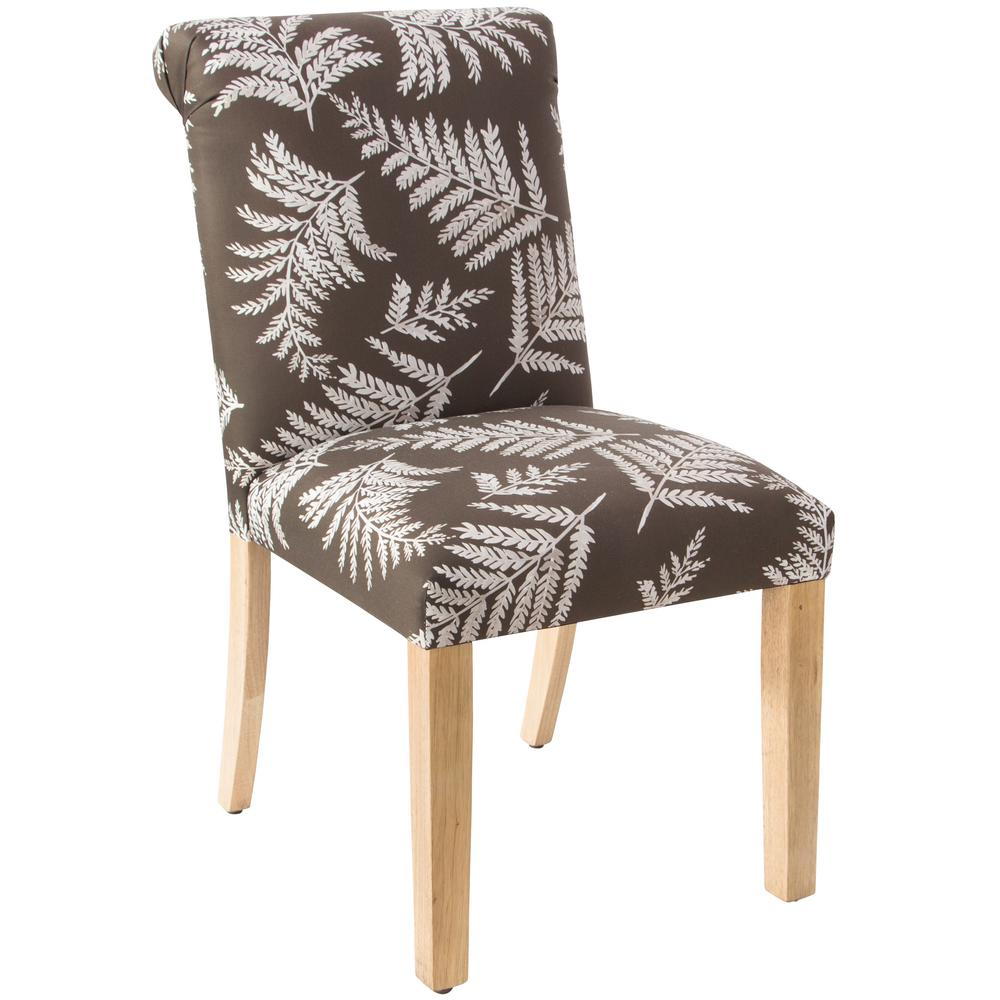 Skyline Furniture Fern Chocolate Rolled Back Dining Chair