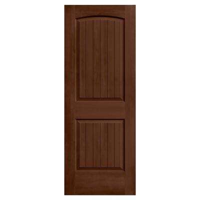 24 in. x 80 in. Santa Fe Milk Chocolate Stain Solid Core Molded Composite MDF Interior Door Slab