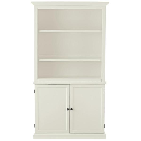 Undefined Ingrid Rubbed Ivory Open Bookcase