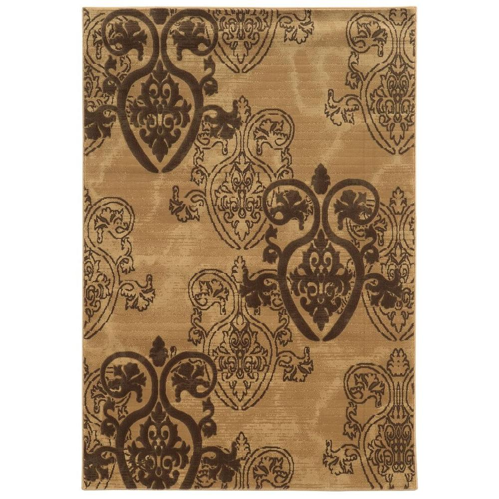 linon home decor jewel collection brown 2 ft x 3 ft indoor area rug rug byj0223 the home depot. Black Bedroom Furniture Sets. Home Design Ideas