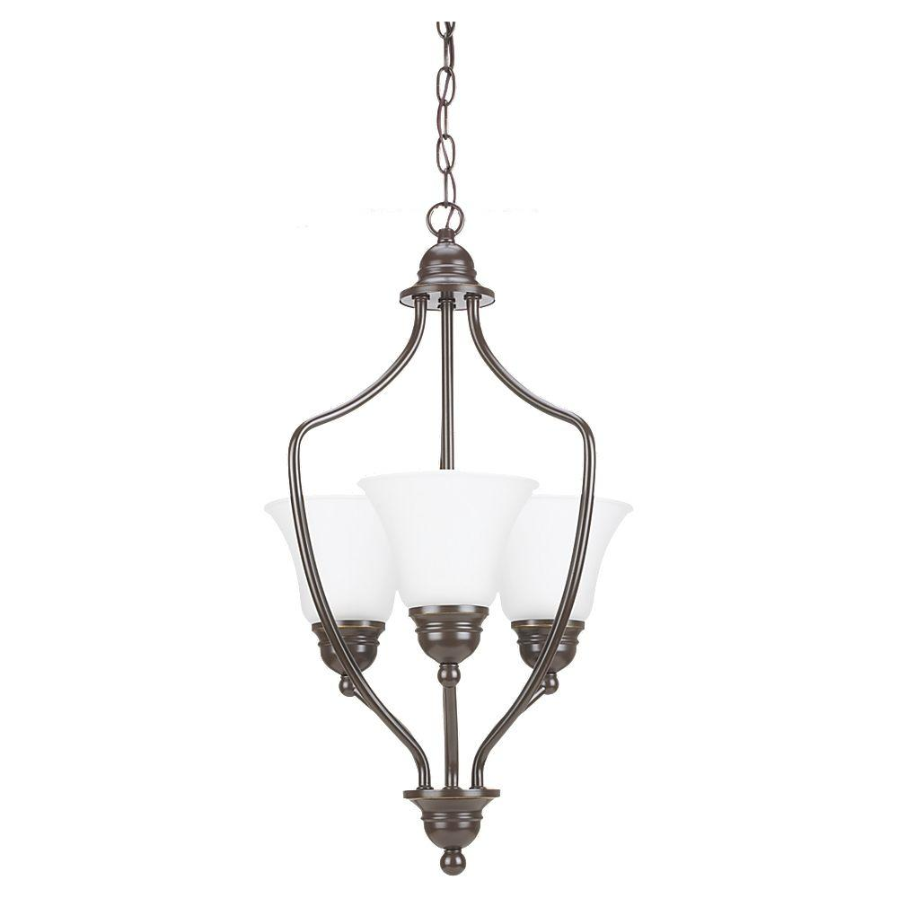 Sea Gull Lighting 3 Light Heirloom Bronze Hall/Foyer Pendant