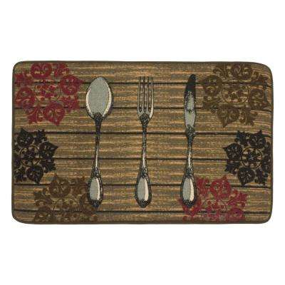 Rustic Utensils 20 in. x 32 in. HD Printed Kitchen Rug