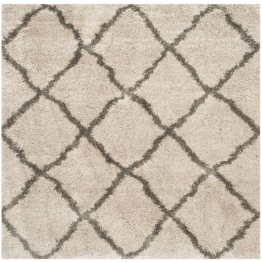 Is Taupe Grey: Safavieh Belize Shag Taupe/Gray 6 Ft. 7 In. X 6 Ft. 7 In