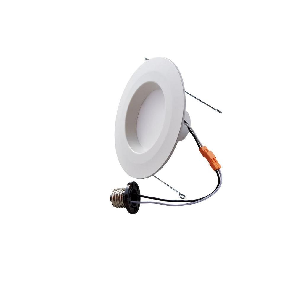 Commercial electric 5 in and 6 in white integrated led recessed white integrated led recessed downlight with plain aloadofball Images
