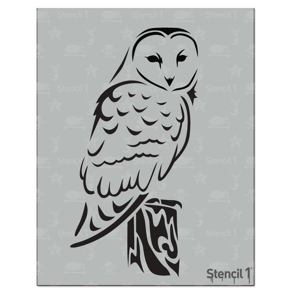 Stencil1 Barn Owl Stencil S101140 The Home Depot