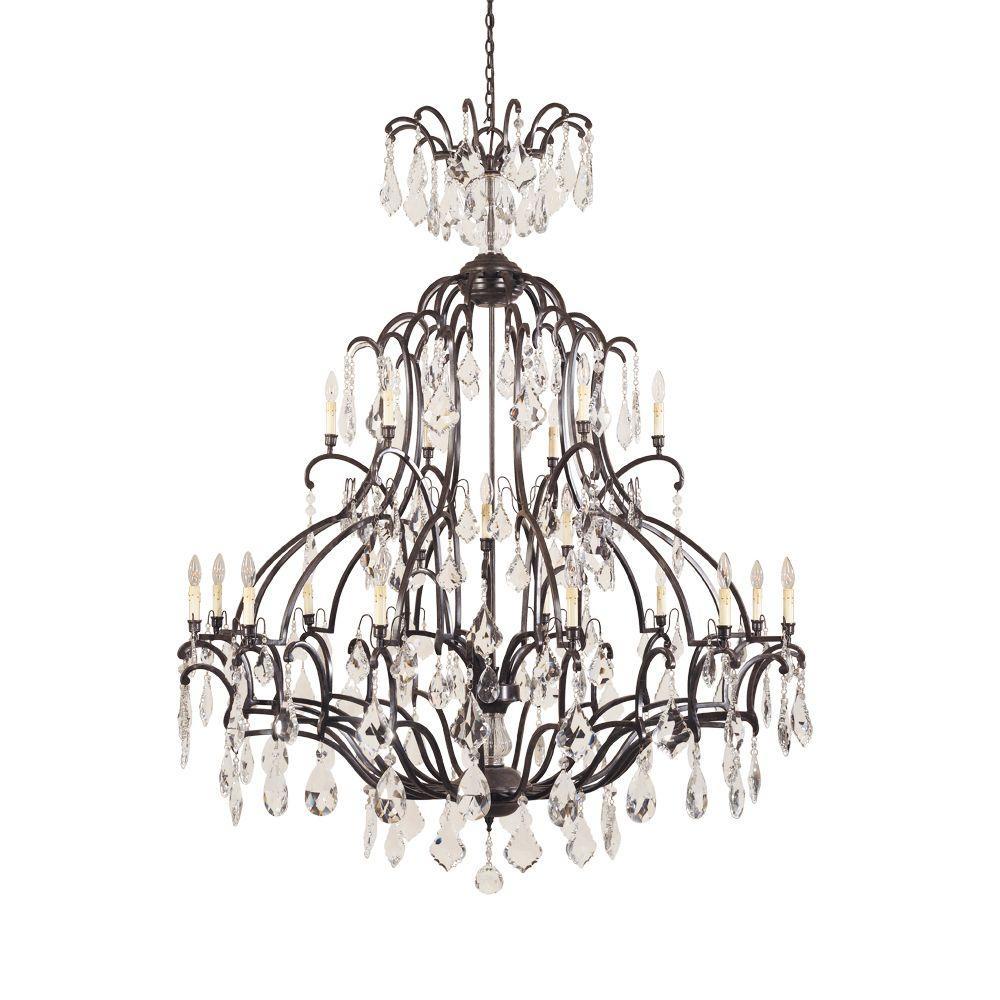 Timeless Elegance Collection 21-Light Bronze Chandelier