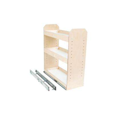 Made-To-Fit 3 Tier Adjustable Tower Cabinet Organizer 6 in. to 12 in. Wide Full-Extension Soft Close
