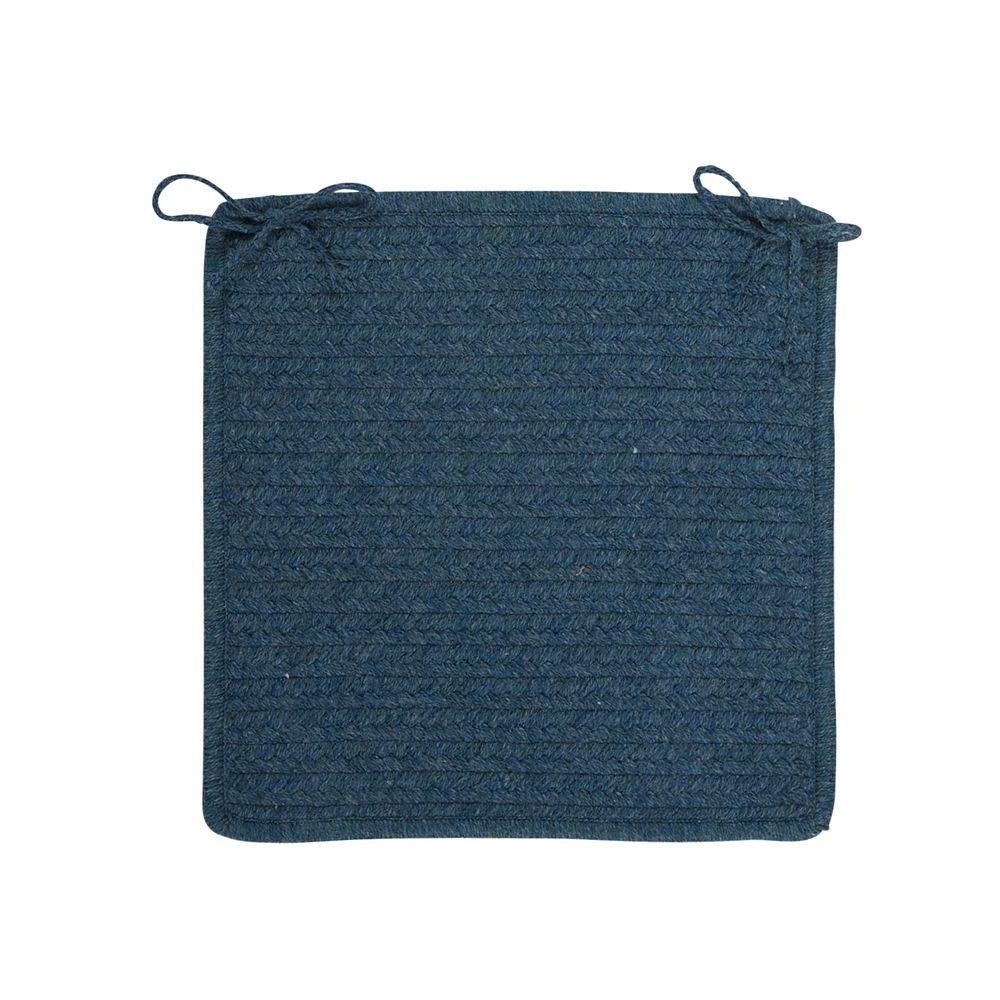 Colonial Mills Allure Polo Blue Braided Chair Pad Set of 4