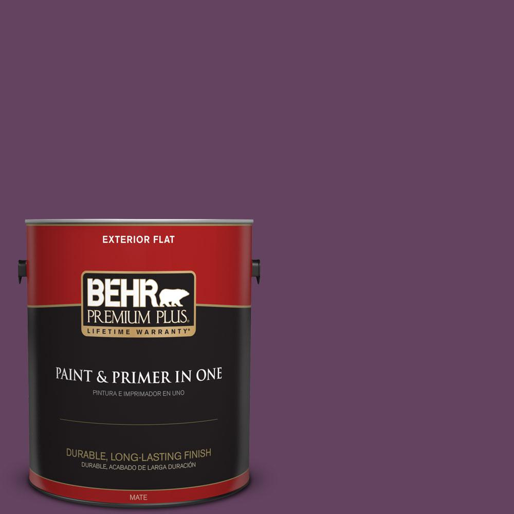 BEHR Premium Plus 1-gal. #BIC-36 Grape Fizz Flat Exterior Paint