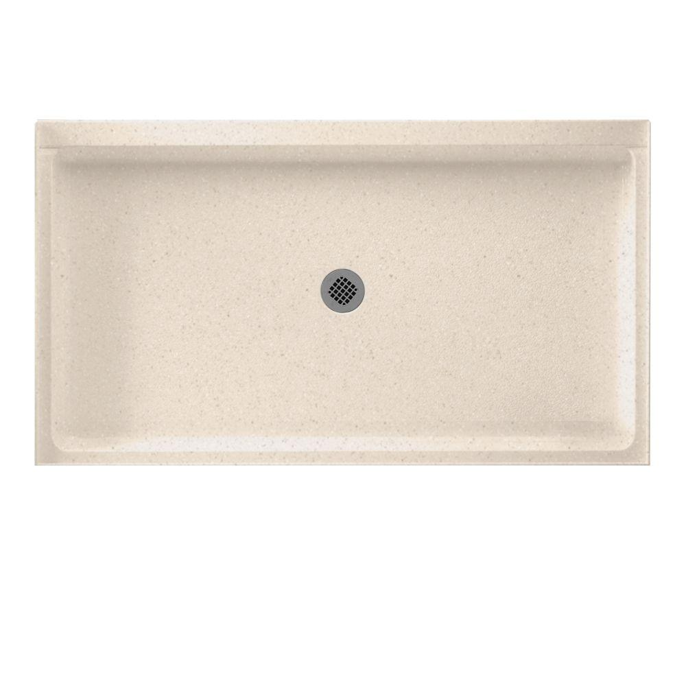 Swanstone Swan 34 in. x 60 in. Solid Surface Single Thres...
