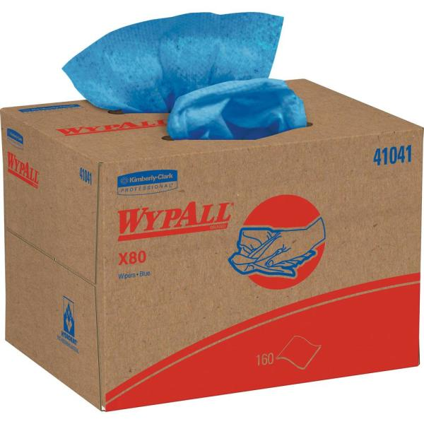 Wypall, KCC41041, X80 Wipers, 1 / Box, Blue