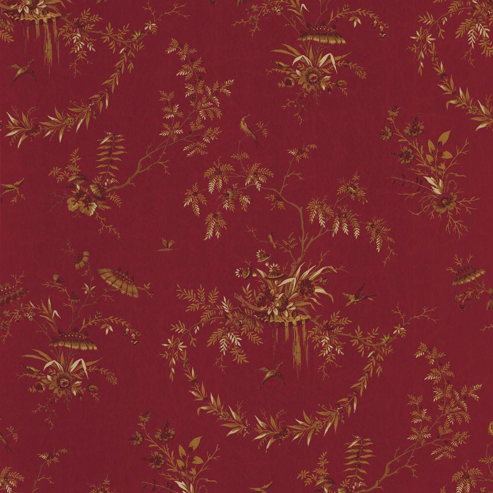 The Wallpaper Company 56 sq. ft. Purple Peking Wallpaper