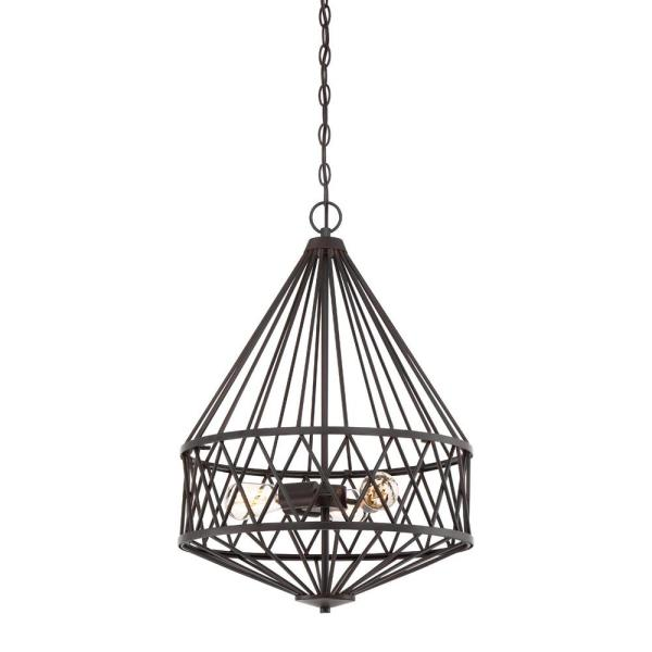 Arris 3-Light Vintage Bronze Interior Pendant