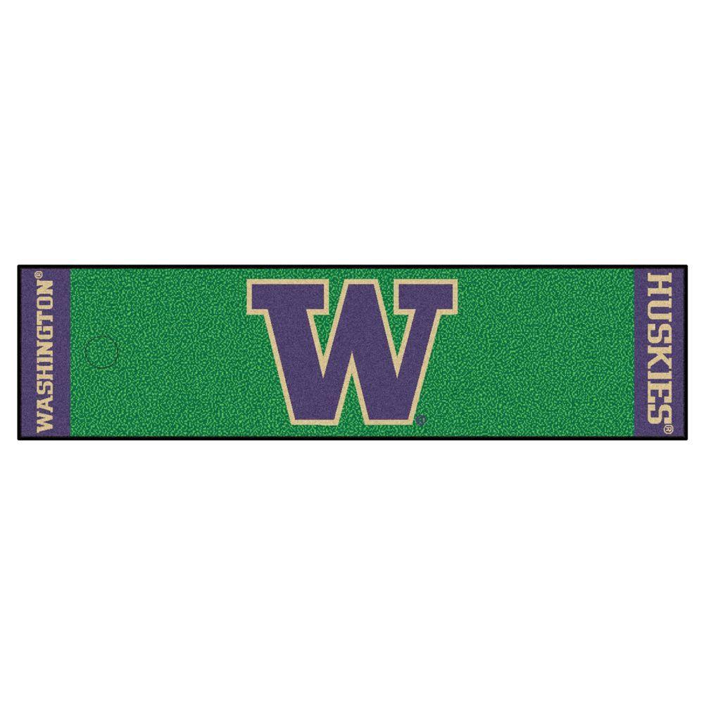 NCAA University of Washington 1 ft. 6 in. x 6 ft. Indoor 1-Hole Golf Practice Putting Green