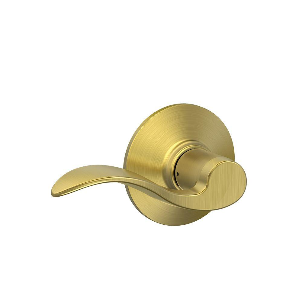 Schlage Accent Satin Brass Passage Hall Closet Door Lever
