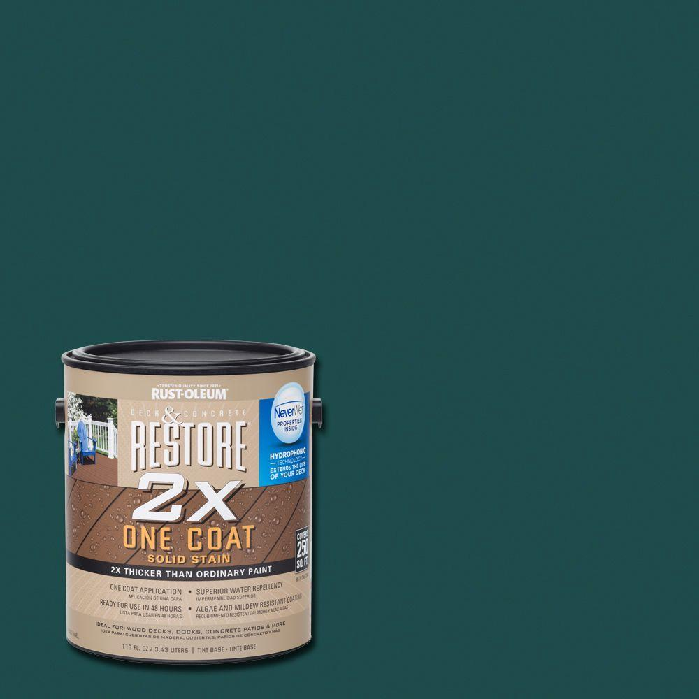 Rust-Oleum Restore 1 gal. 2X Tile Green Solid Deck Stain with NeverWet