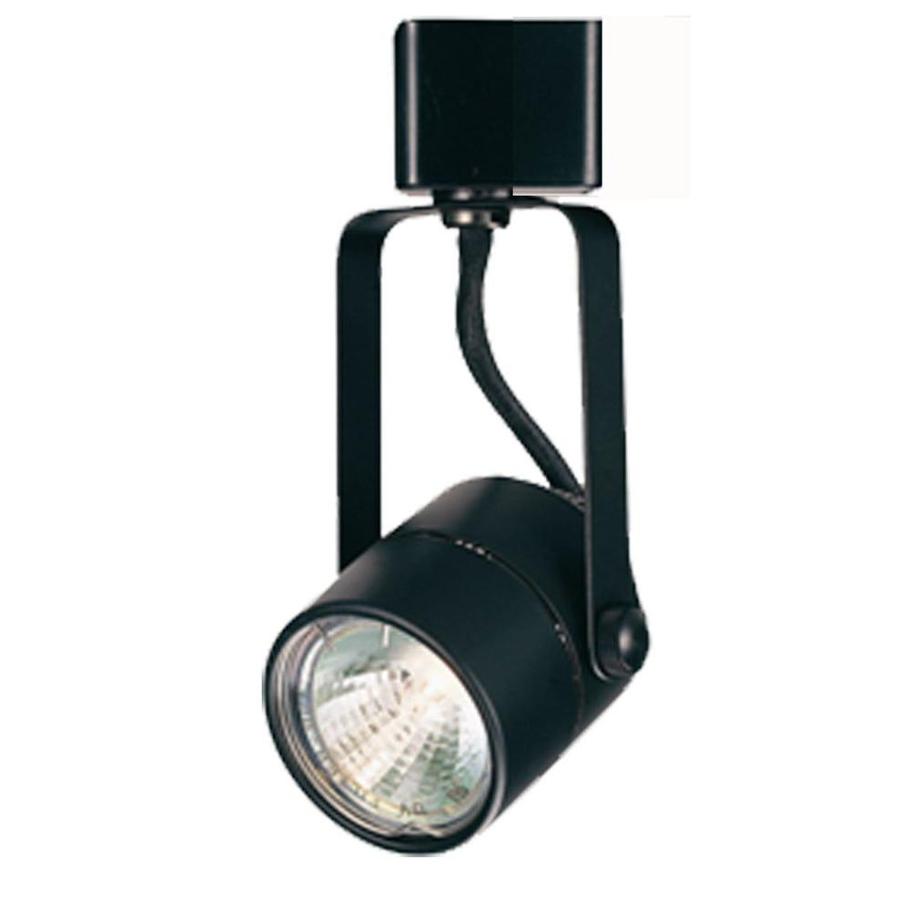Hampton Bay Black Pinhole Cylinder Track Lighting Fixture