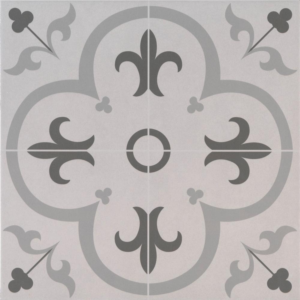 Gray 18x18 Ceramic Tile Tile The Home Depot