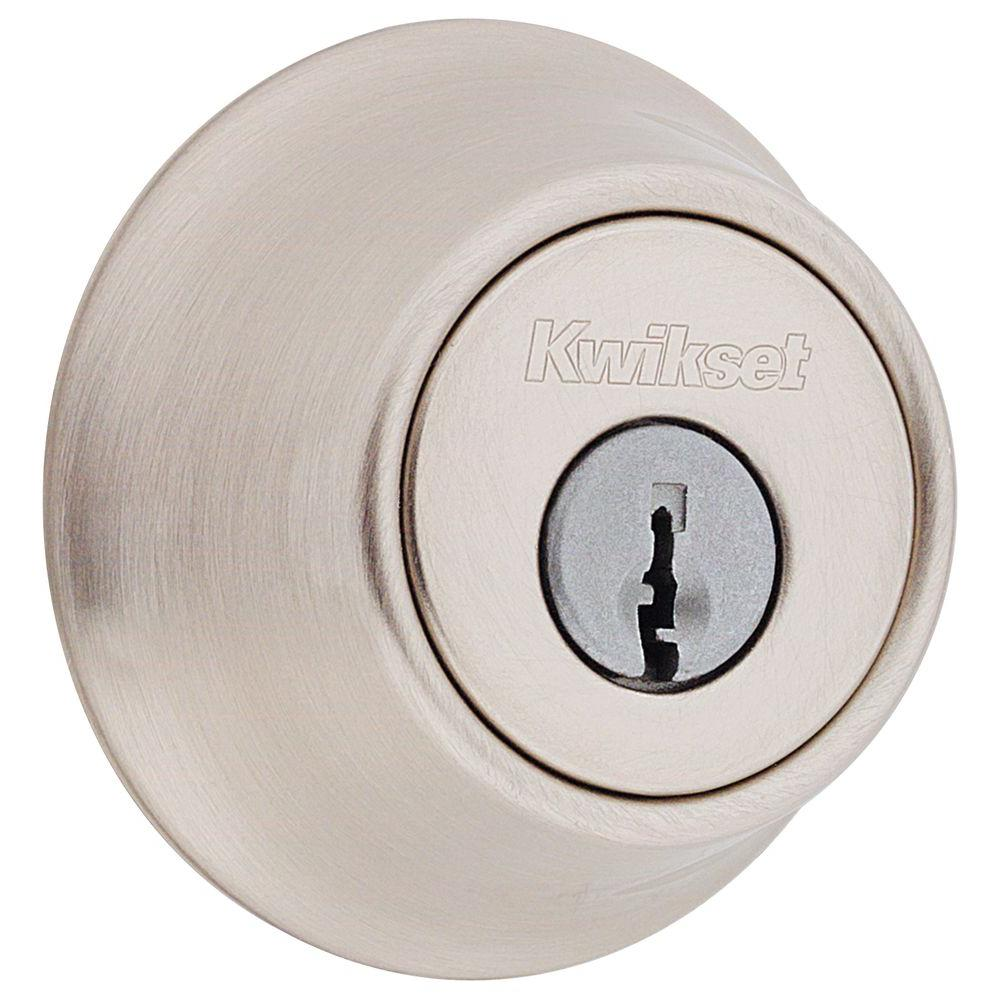 660 Series Satin Nickel Single Cylinder Deadbolt