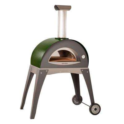27.5 in. x 15.75 in. Outdoor Wood Burning Pizza Oven in Green