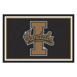 NCAA - University of Idaho Black 8 ft. x 5 ft. Indoor Area Rug