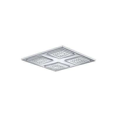 WaterTile Rain 1-Spray 9.875 in. Overhead Showerhead in Polished Chrome