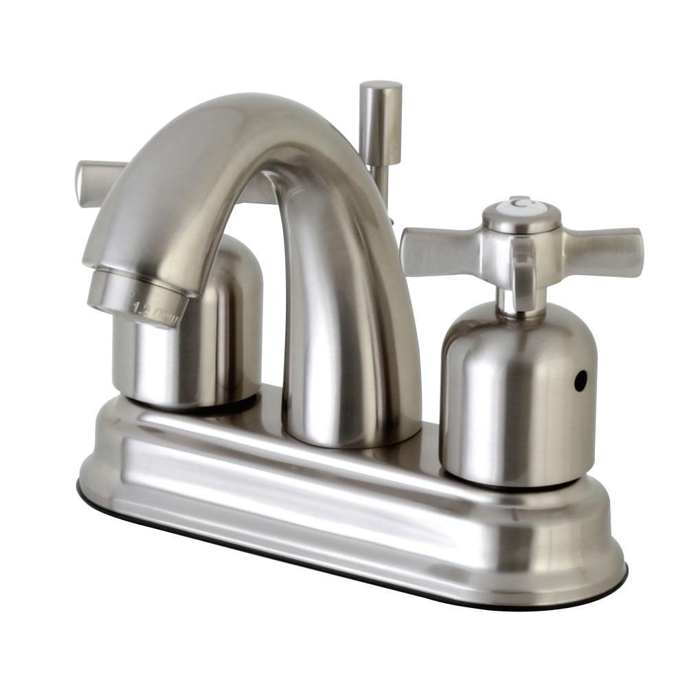 Millennium 4 in. Centerset 2-Handle Bathroom Faucet in Satin Nickel