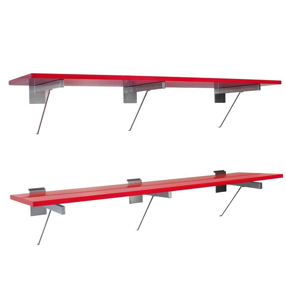 Proslat 2-Shelves 48 in. MDF/Melamine Shelf in Red