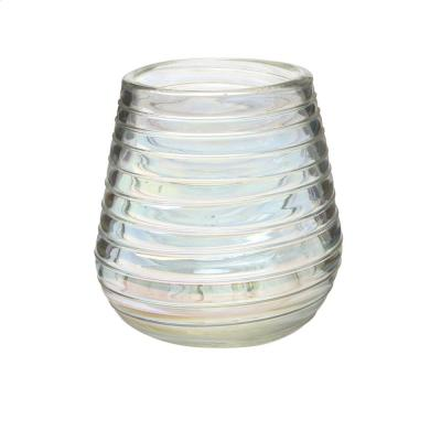 Perla 6-Piece Clear-Luster Glass Stemless Wine Drinkware Set wit 16 oz. Capacity