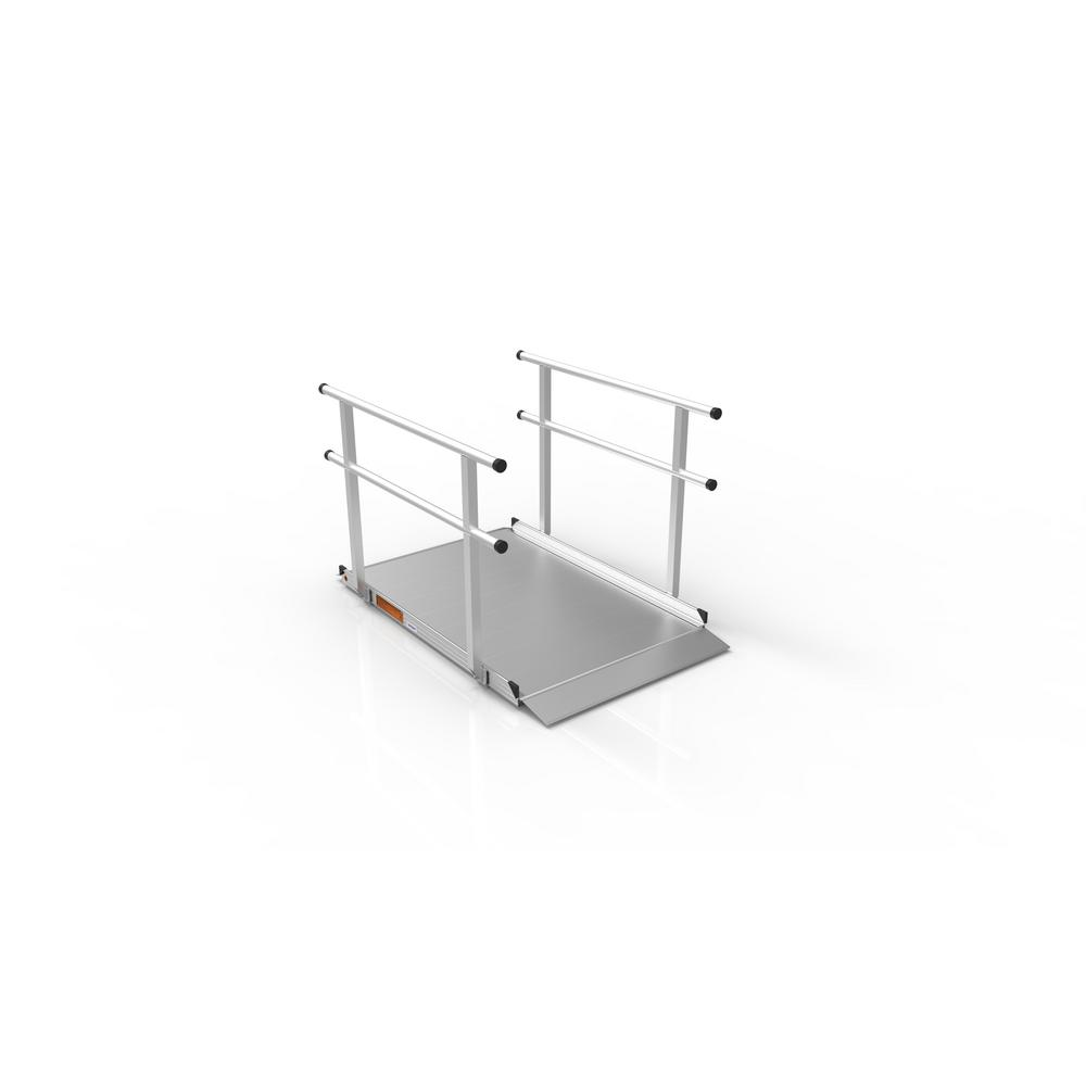 Gateway 5 ft. Aluminum Portable Ramp with Handrails