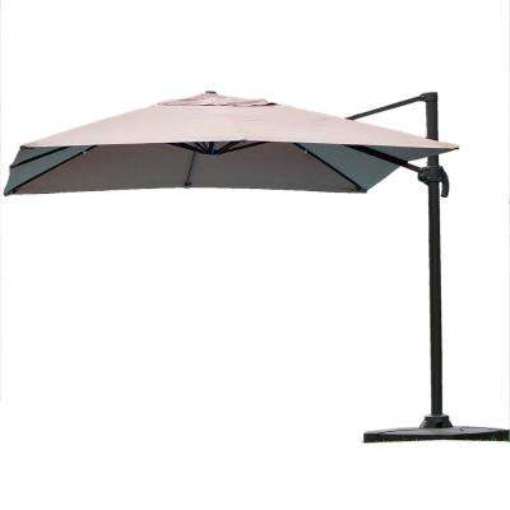 Geneva 9 ft. Cantilever Patio Umbrella in Mocha