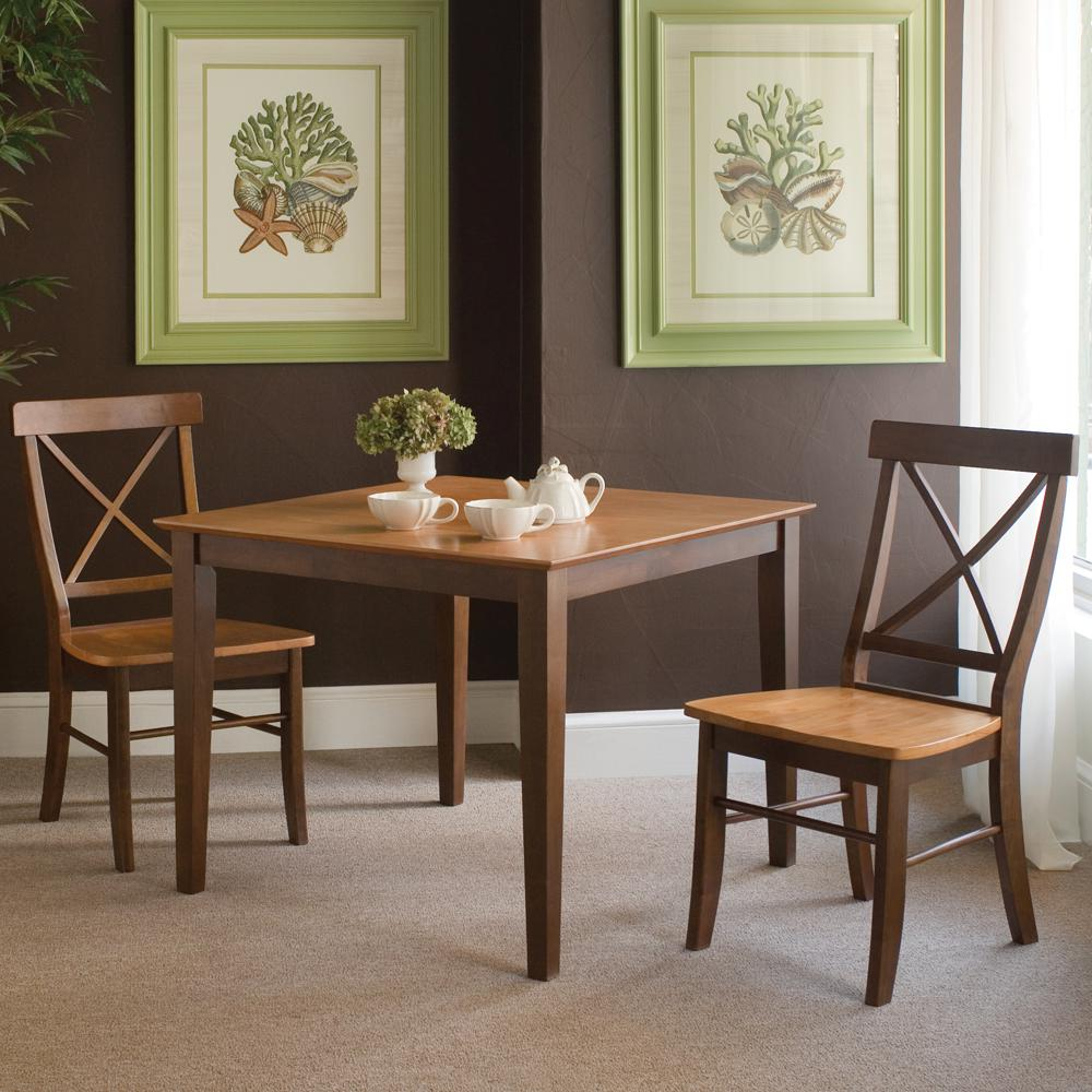 Kitchen Dining Furniture: International Concepts Cinnamon And Espresso Solid Wood