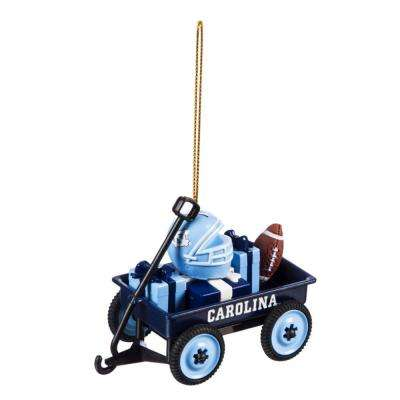 University of North Carolina 1-3/4 in. NCAA Team Wagon Christmas Ornament